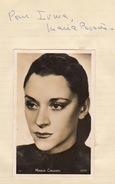 Autographe De Maria Casares - Autographs