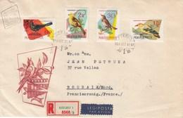 Hongrie - Lettre/Oiseaux Divers, Année 1961, Y.T. 1478/1485 Deux Enveloppes - Hungary