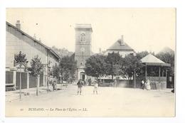 BUSSANG  (cpa 88)   La Place De L'église  -    - L 1 - Bussang