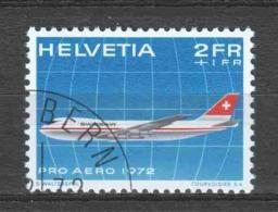 Switzerland 1972 Mi 968 Canceled AIRPLANE (1)