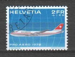 Switzerland 1972 Mi 968 Canceled AIRPLANE (2)