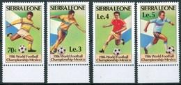 """1986 Sierra Leone """"Mexico 86"""" Coppa Del Mondo World Cup Calcio Football Set MNH** RR69 - Sierra Leone (1961-...)"""