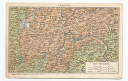 Italie - Italia - Italy - Trentino - Trento Géographie Plan - Trento
