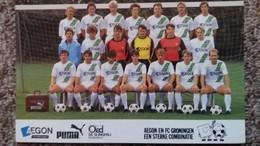 CPSM EQUIPE DE FOOTBALL FC GRONINGEN 1985 1986 DOS SIGNATURES IMPRIMEES DES JOUEURS - Soccer