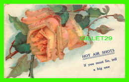 FLEURS ROSE - HOT AIR SHOTS, IF YOU MUST LIE, TELL A BIG ONE - TRAVEL IN 1910 - - Fleurs