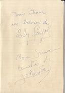 Autographe De Lily Fayol Et ... ? - Autographs