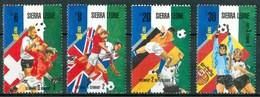 """1989 Sierra Leone """"Italia 90"""" Coppa Del Mondo World Cup Coupe Du Monde Calcio Football Block MNH** RR71 - Sierra Leone (1961-...)"""