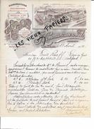 60 - Oise - BEAUVAIS - Facture COMMUNEAU - Manufacture De Couvertures Et Molletons De Laine - 1904 - REF 55B - France