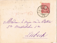 22093. Carta WEIMAR (Alemania Reich) 1888 A Lubeck - Briefe U. Dokumente