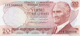 TURCHIA  20 LIRASI  1970  FDS - Turquie