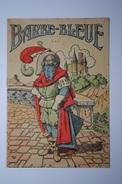 Ancien Petit Livret Publicitaire Image D'épinal Barbe-Bleue Au Dos Publicité Magasin Au Progrès Chemillé Maine Et Loire - 1801-1900