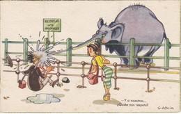 POSTAL DE  UN ELEFANTE (ELEPHANT) RESPETAD A LOS ANIMALES (RUIZ ROMERO) - Elefantes