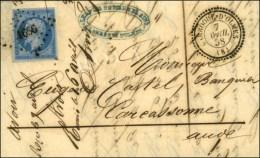 PC 1656 / N° 14 Lilas Càd T 22 LAROQUE-D'OLMES (8). 1858. - SUP. - 1853-1860 Napoleon III