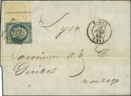 PC 2272 / N° 14 Bdf Intégral Filet D'encadrement Càd T 15 NIMES (29). 1855. - TB / SUP. - R. - 1853-1860 Napoleon III