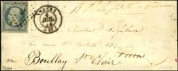 PC 78 / N° 14 Càd T 15 ANGERS (47) 1 JUIL. 54 Sur Lettre Pour Paris Réexpédiée... - 1853-1860 Napoleon III