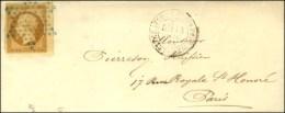 Etoile Bleue / N° 13 Bdf Càd LETTRE AFFR DE PARIS POUR PARIS. 1854. - TB / SUP. - R. - 1853-1860 Napoleon III