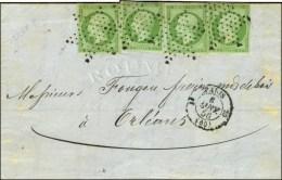 Etoile / N° 12 (4) (1 Ex Pd) Càd PARIS (60). 1856. - TB. - 1853-1860 Napoleon III
