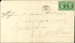 PC 1558 / N° 12 Paire Belles Marges Càd T 15 ISSOIRE (62) Sur Imprimé Complet Pour St... - 1853-1860 Napoleon III