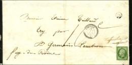 PC 2627 / N° 12 Càd T 22 RANVILLE (13) Sur Imprimé Insuffisamment Affranchi Pour St... - 1853-1860 Napoleon III