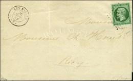 PC 2668 / N° 12 Vert Foncé Sur Vert (très Belle Nuance) Càd T 15 LES RICEYS (9) Sur... - 1853-1860 Napoleon III