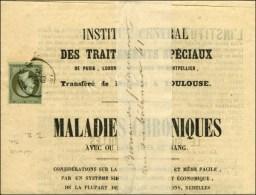 Càd T 15 TOULOUSE (30) / N° 11 Sur Imprimé Complet Sous Bande. 1863. - TB. - 1853-1860 Napoleon III