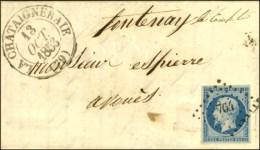 PC 764 / N° 10 Càd T 13 LA CHATAIGNERAIE (79). 1853. - SUP. - 1852 Louis-Napoleon
