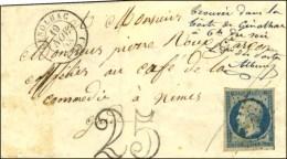 PC 2272 / N° 10 Càd T 15 GENOLHAC (29) Sur Lettre 2 Ports Insuffisamment Affranchie Taxée 25 DT.... - 1852 Louis-Napoleon