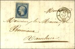 PC 1896 / N° 10 Càd 2 MARSEILLE 2 (12) 12 NOV. 52. 1ère Date Connue Du 25c Présidence. -... - 1852 Louis-Napoleon