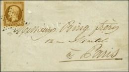 Etoile / N° 9 (belles Marges) Sur Lettre De Paris Pour Paris. Au Verso, Càd D'arrivée. 1853. - TB... - 1852 Louis-Napoleon