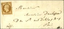 Etoile / N° 9 (belles Marges) Sur Lettre Avec Texte De Paris Pour Paris. Au Verso, Càd D'arrivée.... - 1852 Louis-Napoleon