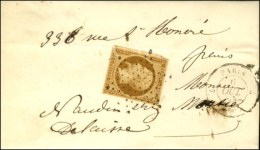 Etoile / N° 9 Càd 7 PARIS 7 (60) Sur Lettre Avec Texte De Paris Pour Paris. 1853. - TB. - R. - 1852 Louis-Napoleon