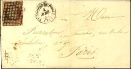 Grille / N° 7 F (catalogue Cérès) Càd T 15 ST BENOIST DU SAULT (35) 4 AVRIL 49 Sur Lettre... - 1849-1850 Ceres