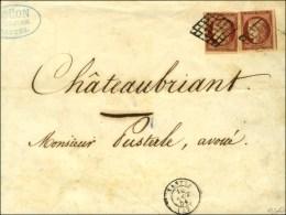Grille / N° 6 (2) (belles Marges)  Càd T 15 NANTES (42) Sur Lettre 4 Ports Pour Châteaubriand.... - 1849-1850 Ceres