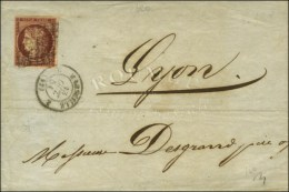 Grille / N° 6 Carmin Brun Càd 2 MARSEILLE 2 (12). 1851. - TB. - R. - 1849-1850 Ceres