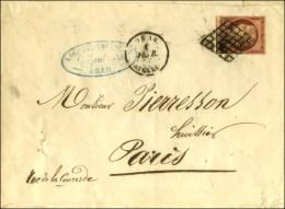 Grille / N° 6 (filet Gauche Effleuré) Càd ORAN / ALGERIE Sur Lettre 3 Ports Pour Paris. - B / TB. - 1849-1850 Ceres