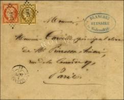 PC 1967 / N° 1 (belles Marges) + 5 (def) Càd T 15 LE MERLERAULT 59 Sur Lettre 2 Ports. 1852. - TB. - R. - 1849-1850 Ceres