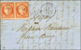 PC 3648 / N° 5 Paire Càd T 15 VINAY (37) 4 AOUT 54 Sur Lettre 3 Ports Pour Voiron. - TB / SUP. - R. - 1849-1850 Ceres