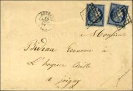 Grille / N° 4 (2) Càd T 15 AUXERRE (83) Sur Lettre Avec Bel En-tête Imprimé Adressée... - 1849-1850 Ceres