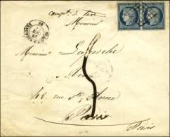 Grille / N° 4 Paire Càd T 15 ST LOUP SUR ARGONNE 69 Sur Lettre 3 Ports Insuffisamment Affranchie... - 1849-1850 Ceres