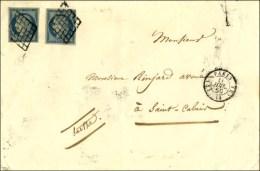Grille / N° 4 (2) Càd (K) PARIS (K) 60 Sur Lettre 2 Ports Pour St Calais. 1850. - TB. - 1849-1850 Ceres