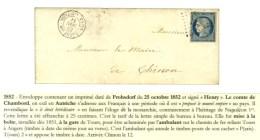 Losange Romain PT2 / N° 4 Càd BOITE Gar TOURS / Bau AMBT 2 Sur Enveloppe Avec Texte Pour Chinon. - TB /... - 1849-1850 Ceres