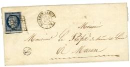 Grille / N° 4 Càd T 15 BOURBON-LANCY (70). 1851. - SUP. - R. - 1849-1850 Ceres