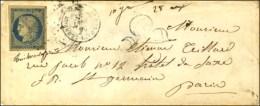 PC 1837 / N° 4 Càd T 15 ST GERMAIN-LEMBRON (62) Sur Lettre 2 Ports Insuffisamment Affranchie... - 1849-1850 Ceres