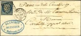 Grille / N° 4 Càd T 15 LE MERLERAULT 59 Sur Lettre Avec Texte Pour Paris. 1852. - TB / SUP. - 1849-1850 Ceres