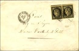 Grille / N° 3 Paire Càd T 15 CHAUMONT-EN-BASSIGNY (50). 1849. - TB. - 1849-1850 Ceres