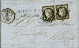 Grille / N° 3 Paire Noir Intense Sur Blanc Càd T 15 ST QUENTIN (2). 1849. - TB. - 1849-1850 Ceres