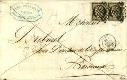 Grille / N° 3 Paire Gris Noir Càd PARIS (60). 1849. - TB. - R. - 1849-1850 Ceres