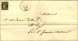 Grille / N° 3 Càd T 13 ISSOIRE (62) 6 SEPT. 1850 Sur Imprimé Complet Pour St Germain-Lembron. Cet... - 1849-1850 Ceres