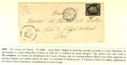 Grille / N° 3 Cursive 73 / CROUY-S-OURCQ Sur Lettre Pour Le Président De La République Au Palais... - 1849-1850 Ceres
