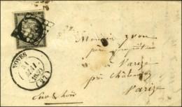 Grille / N° 3 Càd T 14 VOVES Sur Lettre Avec Texte. 1850. - TB / SUP. - 1849-1850 Ceres